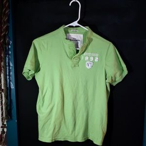 Lime green abercrombie polo shirt
